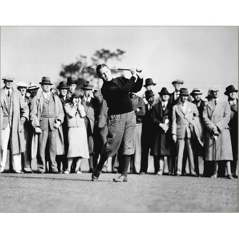 Golf Links To The Past Bobby Jones in Action Photo Media