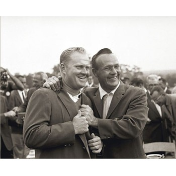 Golf Links To The Past Nicklaus & Palmer:  1965 Masters Photo