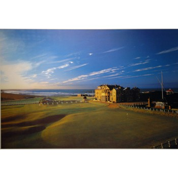Golf Links To The Past St. Andrews 18th Green Photo Media