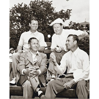 Golf Links To The Past Demaret, Nelson, Jones, & Hogan:  1946 Masters Photo