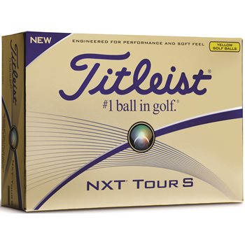Titleist NXT Tour S Yellow Golf Ball Balls