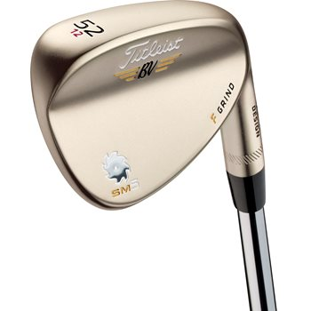 Titleist Vokey SM5 Gold Nickel F Grind Wedge Preowned Golf Club