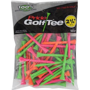 "Pride Deluxe Citrus Mix 2 3/4"" Golf Tees Accessories"