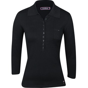 Golftini Polo 3/4 Length Button Sweater V-Neck Apparel