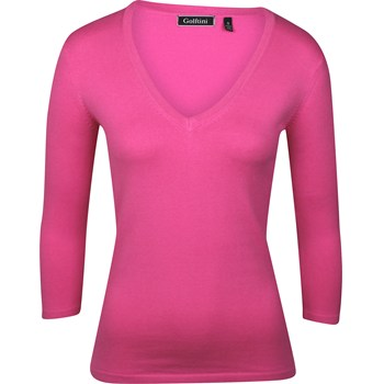 Golftini Solid Sweater V-Neck Apparel