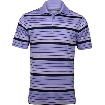 Ashworth EZ-Tec 2 Performance Gradient Stripe Interlock Shirt Polo Short Sleeve Apparel
