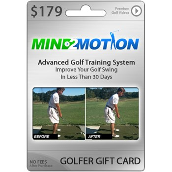GolfNet Mind2Motion Swing Instruction Videos Card Subscription Accessories
