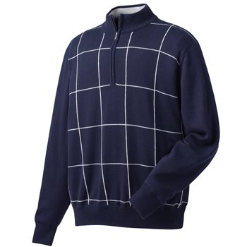 FootJoy Performance Lined Windowpane Outerwear Pullover Apparel