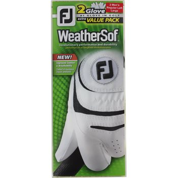 FootJoy WeatherSof 2-Pack Golf Glove Gloves