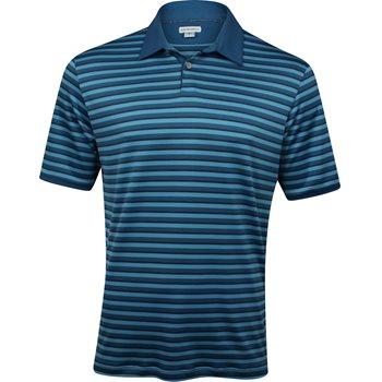 Ashworth Matte Interlock Striped Shirt Polo Short Sleeve Apparel