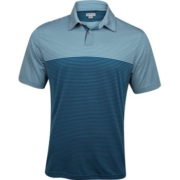 Ashworth EZ-SOF Blocked Stripe Shirt Polo Short Sleeve Apparel