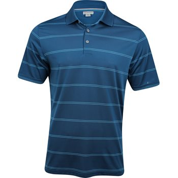 Ashworth EZ-SOF Stripe Shirt Polo Short Sleeve Apparel