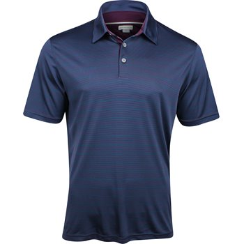Ashworth Interlock Stripe Shirt Polo Short Sleeve Apparel