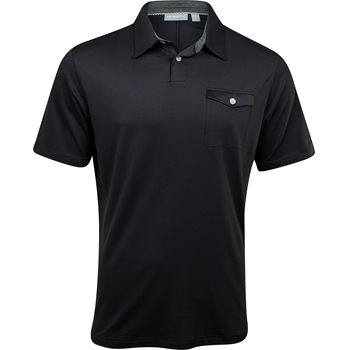 Ashworth EZ-TEC2 Performance Matte Interlock Solid Pocket Shirt Polo Short Sleeve Apparel
