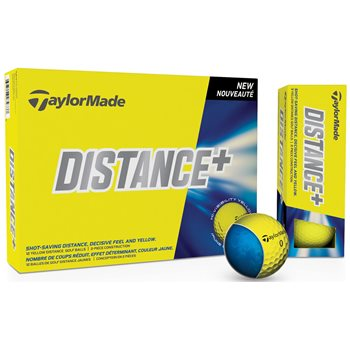 TaylorMade Distance Plus Yellow Golf Ball Balls