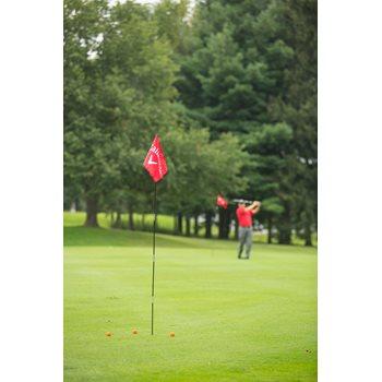 Callaway Backyard Driving Range 2-Flags Swing Trainers Analyzers Golf Bag