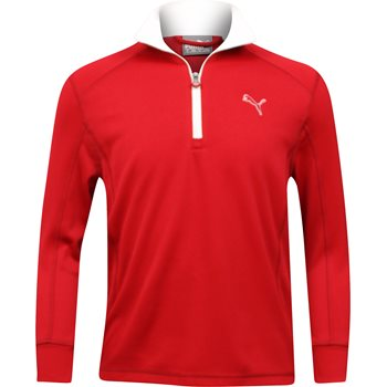 Puma DryCell Youth Golf L/S 1/4 Zip Outerwear Wind Jacket Apparel