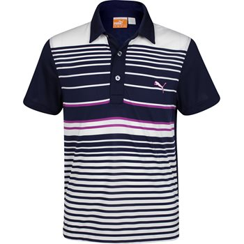 Puma DryCell Yarn-Dye Stripe Shirt Polo Short Sleeve Apparel