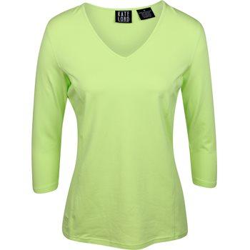 Kate Lord 3/4 Sleeve V-Neck Shirt T-Shirt Apparel