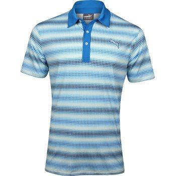 Puma Go Time Check Stripe Shirt Polo Short Sleeve Apparel
