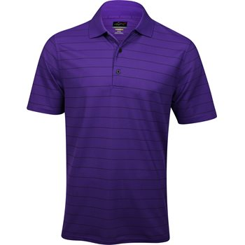Greg Norman Pro-Tek Micro Pique Stripe Shirt Polo Short Sleeve Apparel