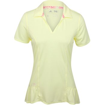 Adidas Tour Peplum Shirt Polo Short Sleeve Apparel