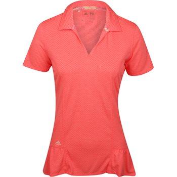 Adidas Tour Peplum Shirt Polo Short Sleeve Apparel