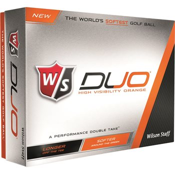Wilson Staff Duo Orange Golf Ball Balls