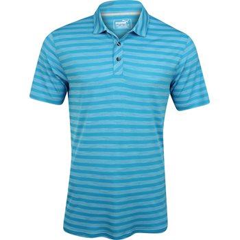 Puma Essentials Mixed Stripe Shirt Polo Short Sleeve Apparel