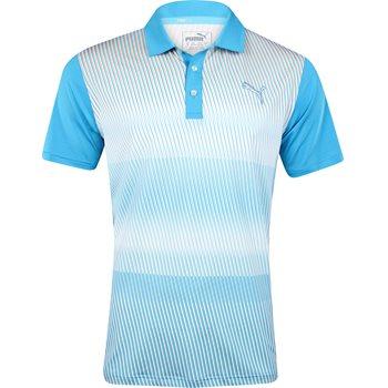Puma Golf Tech Brush Stripe Shirt Polo Short Sleeve Apparel