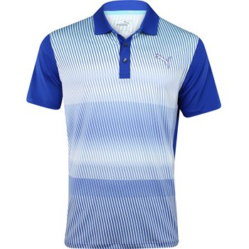Puma Golf Tech Brush Stripe Shirt Polo Short Sleeve Apparel