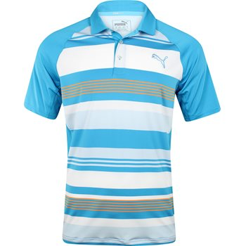 Puma Golf Tech Road Map Shirt Polo Short Sleeve Apparel