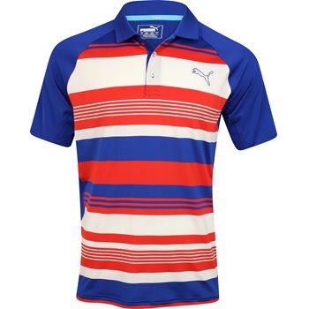 Puma Golf Tech Road Map Shirt Polo Short Sleeve Apparel