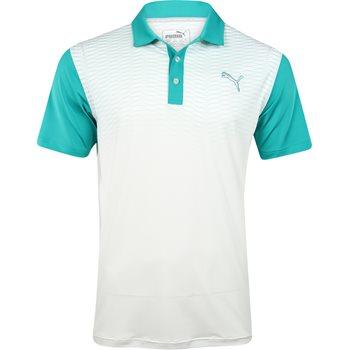 Puma Golf Tech Colorblock Shirt Polo Short Sleeve Apparel