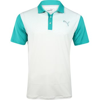 Puma Golf Tech Colorblock Shirt Polo Short Sleeve Apparel