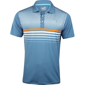 Puma Surface Stripe Shirt Polo Short Sleeve Apparel