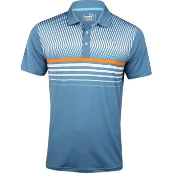 Puma Surface Stripe Shirt Polo Short Sleeve Apparel