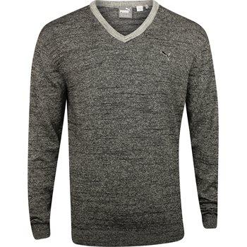 Puma Solid Knit Sweater V-Neck Apparel