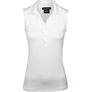 Golftini Sleeveless Ruffle Tech Shirt Polo Short Sleeve Apparel