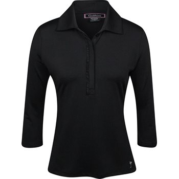 Golftini 3/4 Sleeve Ruffle Tech Shirt Polo Long Sleeve Apparel