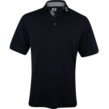 FootJoy ProDry Performance Stretch Pique Tour Logo Collar Shirt Polo Short Sleeve Apparel