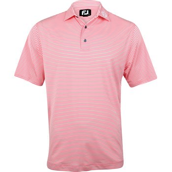 FootJoy ProDry Perf. Lisle Feeder Stripe Tour Logo Collar Shirt Polo Short Sleeve Apparel