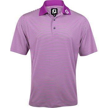 FootJoy ProDry Perf. Lisle Feeder Stripe Tour Logo Collar Shirt Polo Short Sleeve Apparel