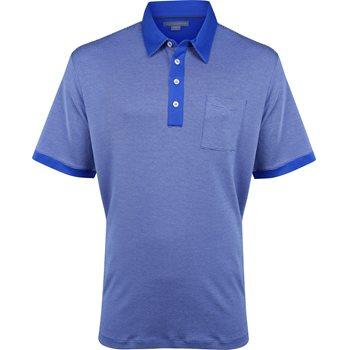 Ashworth Signature Micro Stripe Pima Cotton Pocket Shirt Polo Short Sleeve Apparel