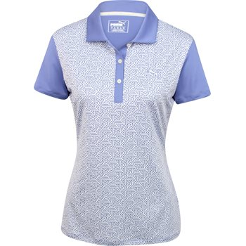 Puma DryCell Tile Print Shirt Polo Short Sleeve Apparel