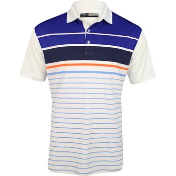 Callaway Golf Performance Engineered Stripe Shirt Polo Short Sleeve Apparel