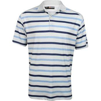 Callaway Golf Performance Heather Stripe Shirt Polo Short Sleeve Apparel