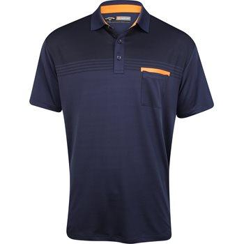 Callaway Golf Performance Shadow Striped Shirt Polo Short Sleeve Apparel