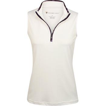 Oxford Howard Sleeveless 1/4 Zip Shirt Polo Short Sleeve Apparel