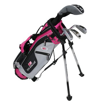 US KIDS U/L 42 Silver/Black/Pink Club Set Clubs